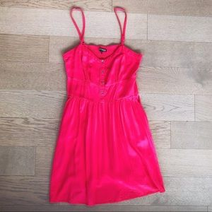 Express Red Casual Cami Sleeveless Dress